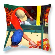 Georgia Peaches Throw Pillow
