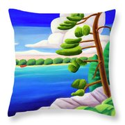 Georgian Bay Shores II Throw Pillow