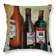 Georgian Wine Fresco Throw Pillow