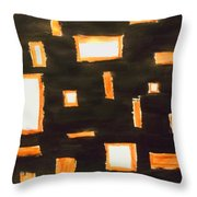Geosequence In Black And Copper Throw Pillow