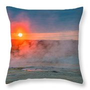 Geothermal Sunrise Throw Pillow