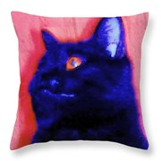 Gepetto The Cat Godzilla Throw Pillow
