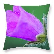 Geranium Budding Out Throw Pillow