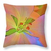 Geranium In Color Throw Pillow