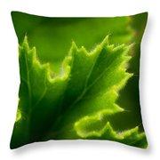 Geranium Leaf Throw Pillow