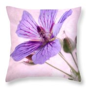 Geranium Maculatum Throw Pillow
