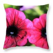 Geranium Pair Throw Pillow