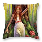 Geranium - Resilience Throw Pillow by Anne Wertheim