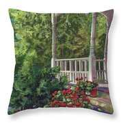 Geranium Summer Throw Pillow