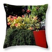 Geraniums And Gelato Throw Pillow