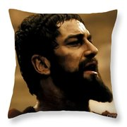 Gerard Butler  In 300 Throw Pillow