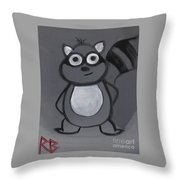 Gerard The Raccoon Throw Pillow