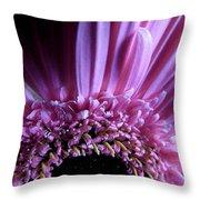 Gerber Daisy Watercolor Throw Pillow