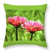 Gerbera Daisies To Brighten Your Day Throw Pillow