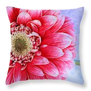 Gerbera Texture Throw Pillow