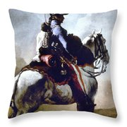 Gericault: Trumpeter, 1814 Throw Pillow