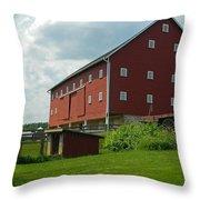 Historic German Bank Barn - Maryland Throw Pillow