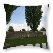 German Bunker At Tyne Cot Cemetery Throw Pillow