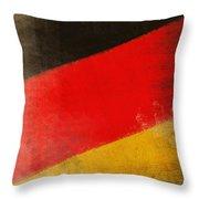 German Flag Throw Pillow by Setsiri Silapasuwanchai