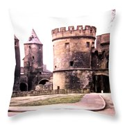 German Gate In Metz 1955 Throw Pillow