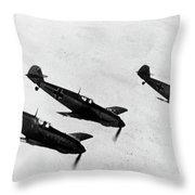 German Messerschmitt Fighter Planes. For Licensing Requests Visit Granger.com Throw Pillow by Granger
