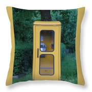 German Phone Booth Throw Pillow