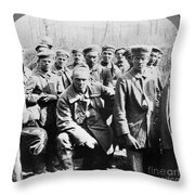 German Prisoners Of War Throw Pillow