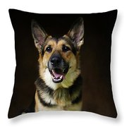 German Shepherd Dog Thor Throw Pillow