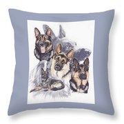 German Shepherd W/ghost Throw Pillow