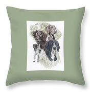 German Shorted-haired Pointer Revamp Throw Pillow