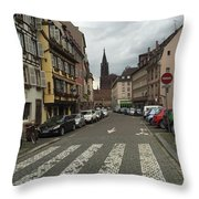 German Street Throw Pillow