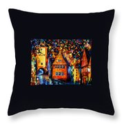 Germany - Medieval Rothenburg Throw Pillow