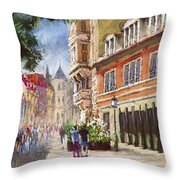 Germany Baden-baden Lange Str Throw Pillow