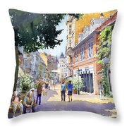 Germany Baden-baden Lange Strasse Throw Pillow