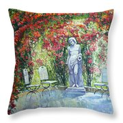 Germany Baden-baden Rosengarten 02 Throw Pillow