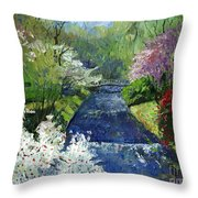 Germany Baden-baden Spring Throw Pillow