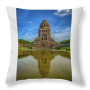 Germany - Monument To The Battle Of The Nations In Leipzig, Saxony Throw Pillow
