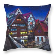 Germany Ulm Fischer Viertel Throw Pillow