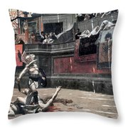 Gerome: Gladiators, 1874 Throw Pillow