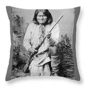 Geronimo Apache Indian Native American Throw Pillow