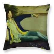 Gertrude Vanderbilt Whitney 1916 Throw Pillow