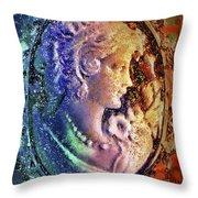 Gertrude's Cameo Throw Pillow by Al Matra