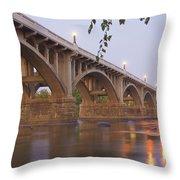 Gervais Bridge Throw Pillow by Steven Richardson