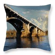 Gervais Street Bridge, Columbia, Sc Throw Pillow