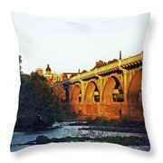 Gervais Street Bridge Upstream  Throw Pillow