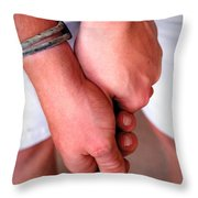 Get A Grip Throw Pillow