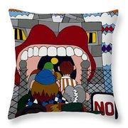 Get A Job Throw Pillow by Rojax Art