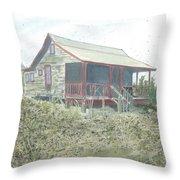 Get Away Cottage Throw Pillow