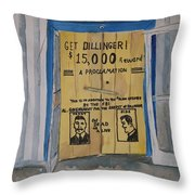 Get Dillinger Throw Pillow