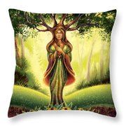 Get Grounded - Black Eyed Susan Throw Pillow